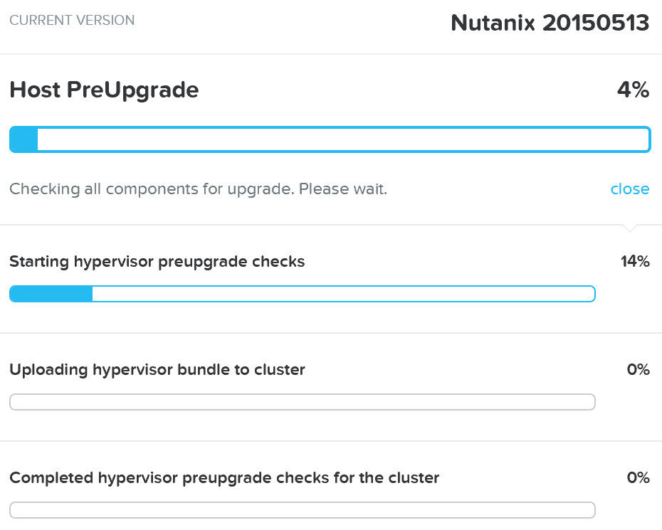 Upgrade Hypervisor - Pre-upgrade Checks